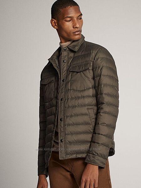 Ультратонкая демисезонная курточка на гусином пуху Massimo Dutti, xl.