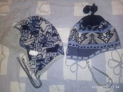 Loman и Akaz зимние шапочки полушерсть на 6-10 лет