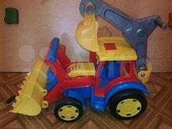 Толокар трактор-экскаватор Wader Гигант 66500