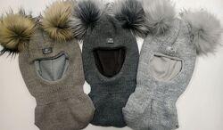 Шлемы на термофлисе р.48-50-52 см