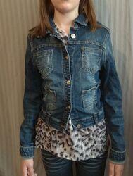 Куртка косуха джинсова р. XS або L підлітковий
