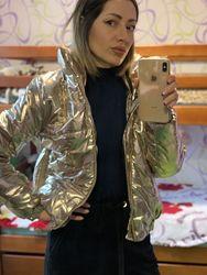 Женская дутая куртка на змейке 44р