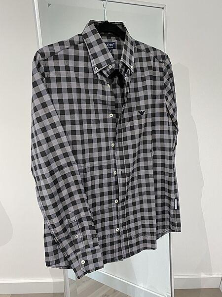 Рубашка в клетку Armani jeans