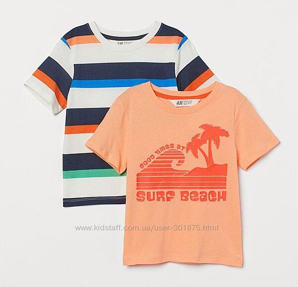 Набор футболок H&M р. 6-8, 8-10 лет.