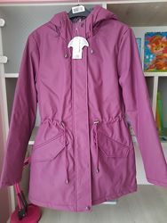 Парка Purple Hooded Padded Parka George Англия UK 8 EUR 36