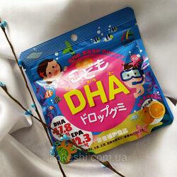 Вкусные мармеладки - омега-3 для детей Unimat Riken DHA со вкусом апельсина