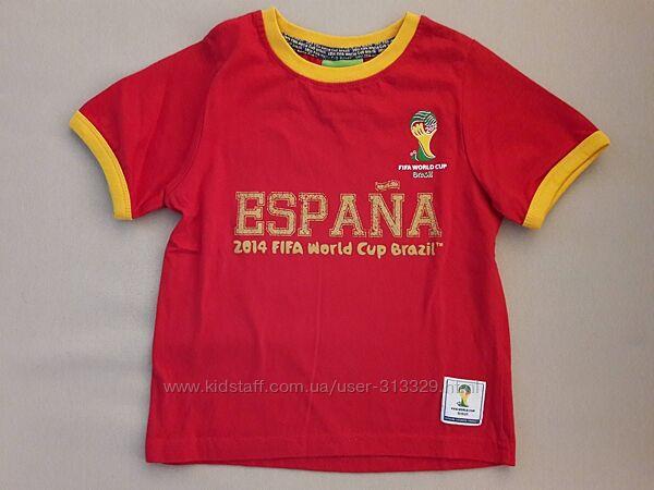 Новая красная футболка Rebel на 4-5 лет хлопок