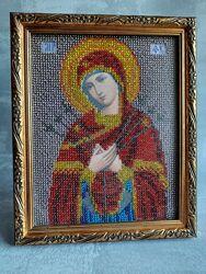 Икона Семистрельная вышитая чешским бисером 18,5  22,5 см. Подарок