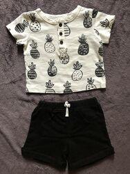 Літні набори, шорти і футболка США 6-9міс