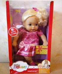 Кукла My little mommy Fisher price в розовом наряде блондинка 35 см