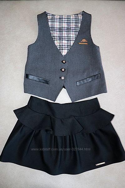 Школьный комплект  жилетка и юбка  Baby Angel на рост 115-125