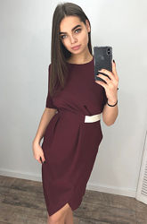 Модное платье на запах Новинка