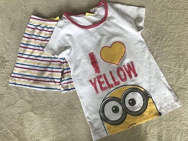 Нова хлопкова піжамка футболка/шорти
