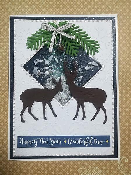 Набор для создания новогодней открытки-шейкер