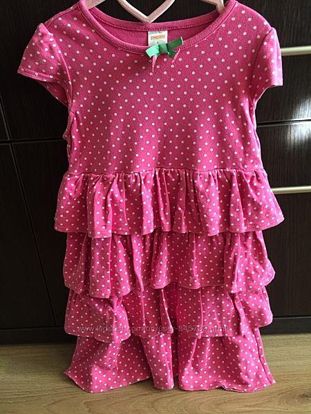 Платье с тюльпаном, 5-7 лет