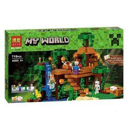 Конструктор Bela 10471 Дом на дереве в джунглях майнкрафт, Minecraft