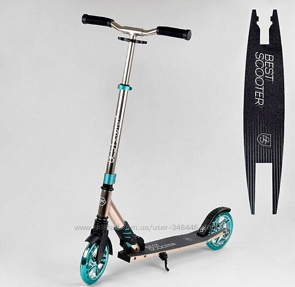 Самокат Best Scooter S-10133, колеса PU, 180 мм, для подростков и взрослых