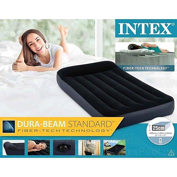 Надувной матрас Intex с подголовником 64141 64142 64143