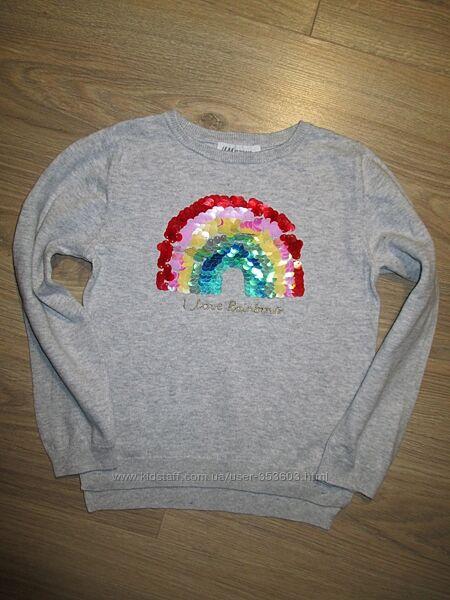 Хлопковый свитер НМ на 4-6лет рост 110-116