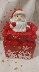 Новорічний декор Цукерниця дід Мороз Санта Німеччина