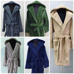 Мальчуковые мягкие халаты с капюшоном от 12 до 16 лет . Турция