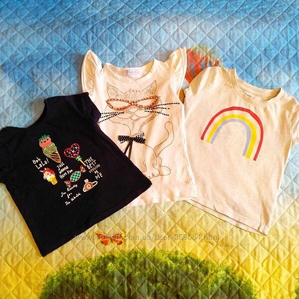 Набор фирменных футболок для девочки р.