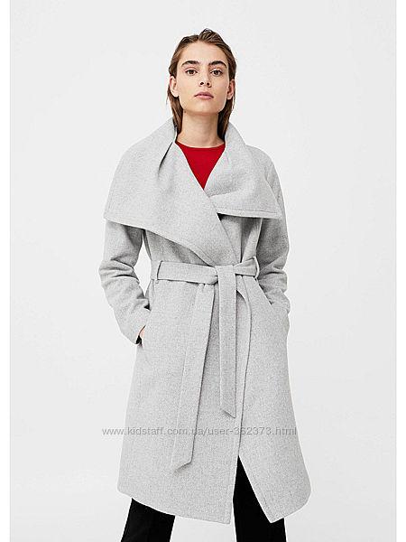 Пальто с лацканами женское М Mango