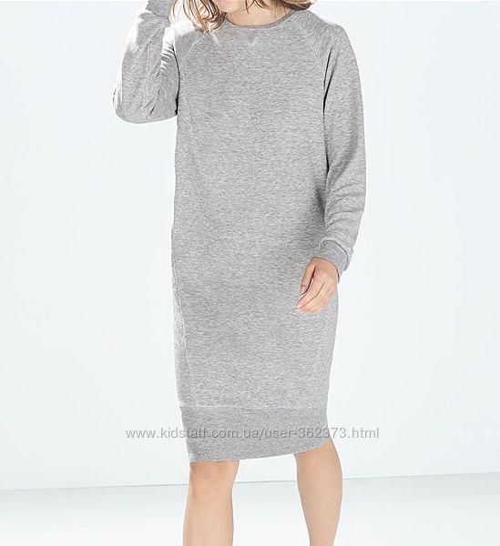 Спортивное платье свитшот миди женское С Zara