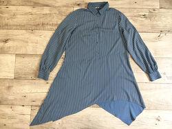 Удлиненная асимметричная рубашка туника женская М Ckh