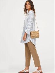 Удлиненная рубашка туника женская М H&M