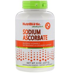 NutriBiotic, Immunity, Витамин С, аскорбат натрия, кристаллический порошок