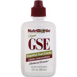 NutriBiotic, Веганский экстракт семян грейпфрута GSE, жидкий концентрат, 59