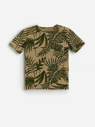 Хлопковая футболка с узором Reserved р. 134