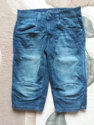 Фирменные удлинённые джинсовые шорты р.31Vogele