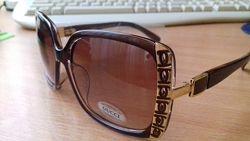 Gucci 6115 солнцезащитные очки в коричневой оправе Италия