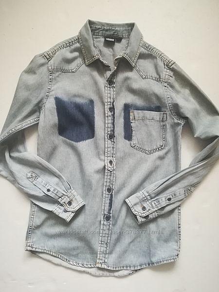 Urban classics джинсовая рубашка по этикетке размер s