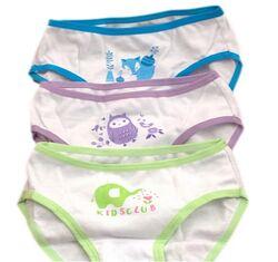 Комплект  детских хлопковых трусиков для девочки 4-8 лет U. S. Polo