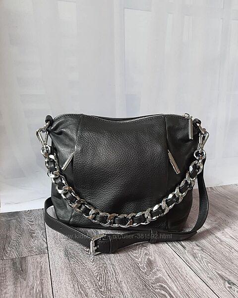 Кожаная вместительная сумка Polina Eiterou
