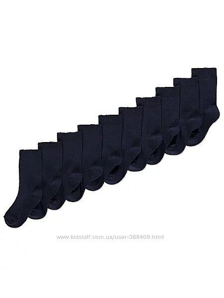 Набор хлопковых темно-синих носков george мальчику