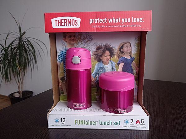 Набір термосів дитячих Thermos для  дівчаток і хлопчиків, є коробка