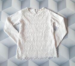 Блузка трикотажна з мереживом