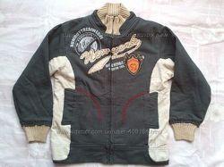 Бомбовская, мягкая куртка - пайта на юного модника, состояние новой.