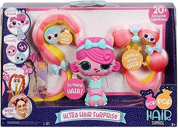 Большой набор Pop Pop Hair Surprise Ультра-сюрприз для волос 20 сюрпризов
