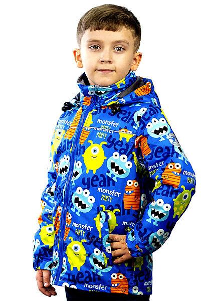 Демисезонная куртка Be easy Монстрики мембранная ткань