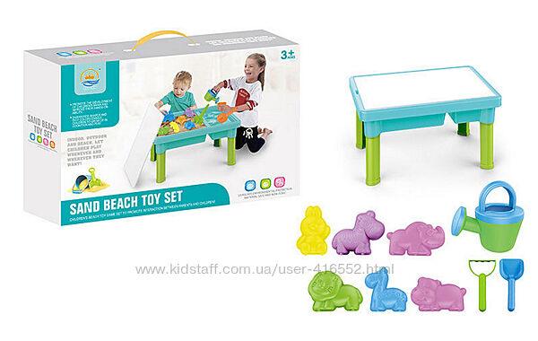 Столик для песка и воды с накрытием с аксессуарами