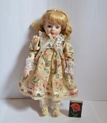 Фарфоровая кукла, Англия, винтаж 30 см