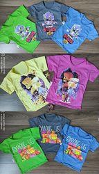 Красивые футболки хлопок мальчикам и девочкам