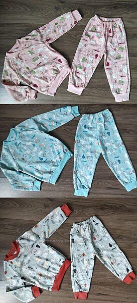 пижамы с качественного и натурального  полотна с начесом