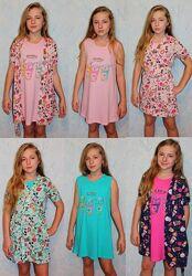 комплекты ночные рубашки с халати девочкам и подросткам