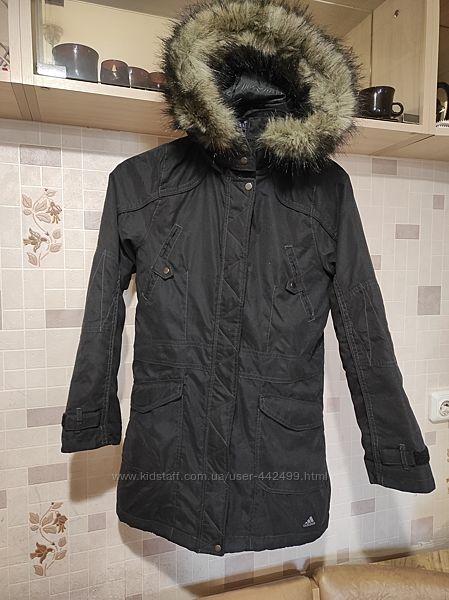 Демисезонная куртка парка adidas, оригинал 11-12л. 146-152р состояние новой